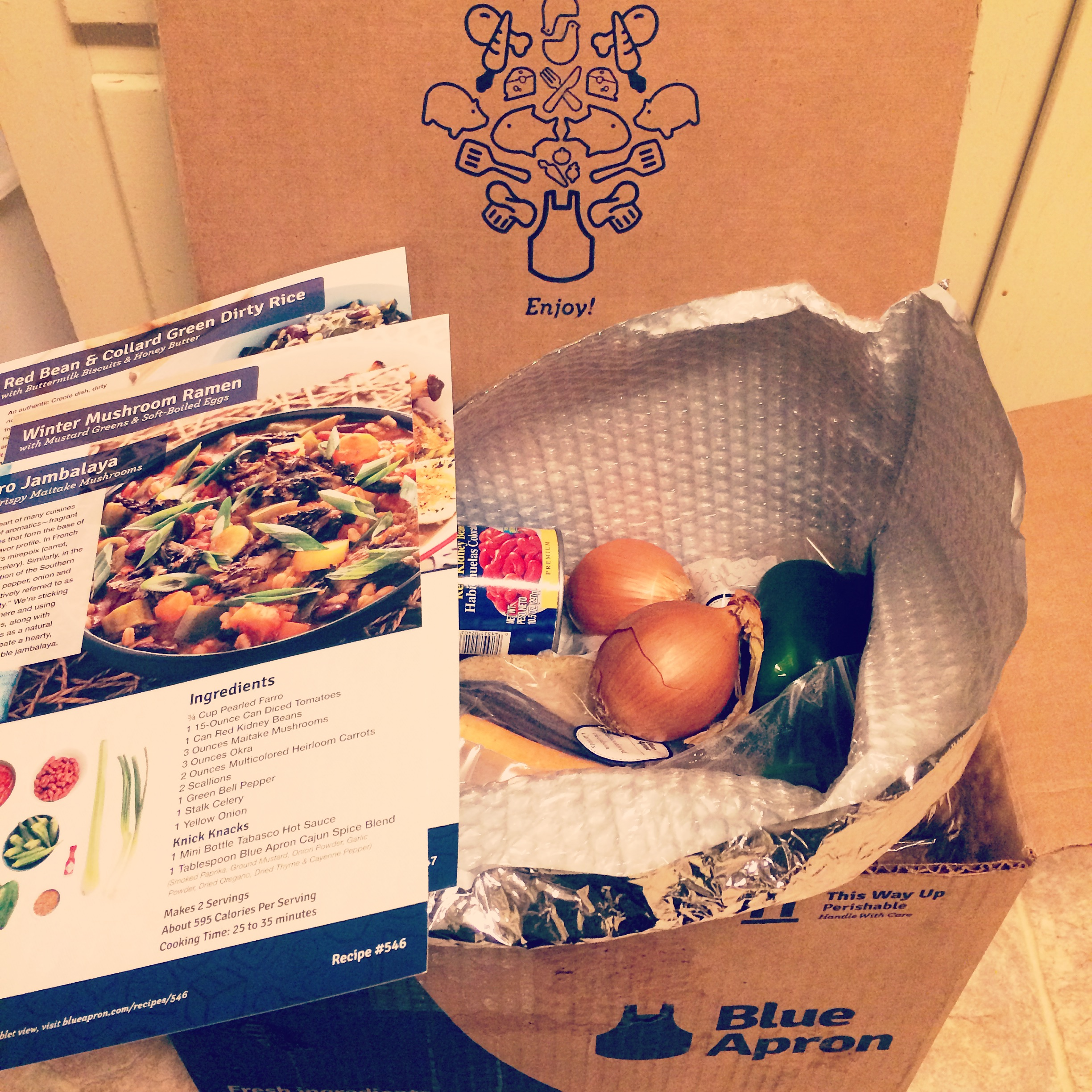 Blue apron yellow tomatoes