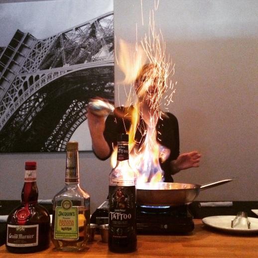Crepe Flambeed Tableside