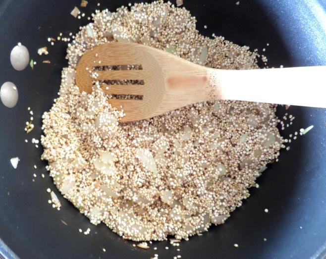 Toast the Quinoa