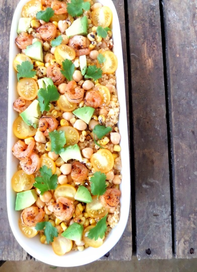 Shrimp, Quinoa and Chickpeas | The Protein Trinity