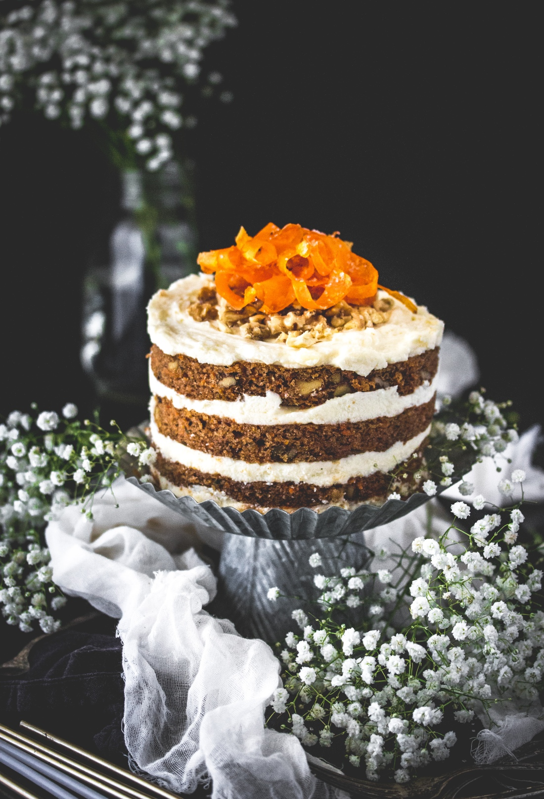 Admirable Carrot Cake Mascarpone Buttercream With Candied Carrots A Personalised Birthday Cards Bromeletsinfo